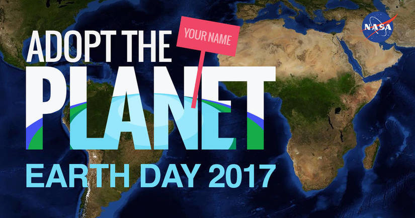Adopt The Planet on Earth Day 2017 logo.