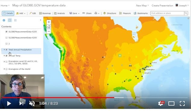 Image of ArcGIS Map webinar