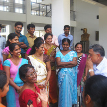 GLOBE Sri Lanka teachers laughing as a group.