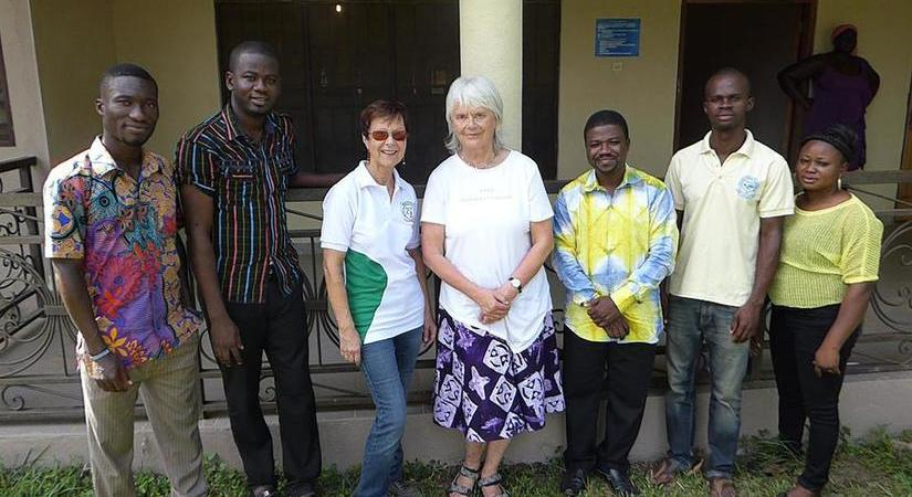 Participants in GLOBE Ghana standing for a group photo.