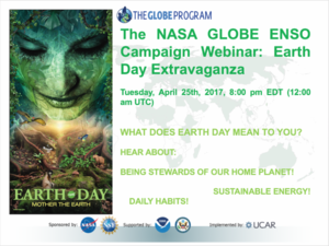 A poster of Earth Day Extravaganza.