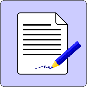 A cartoon image of a media release form.