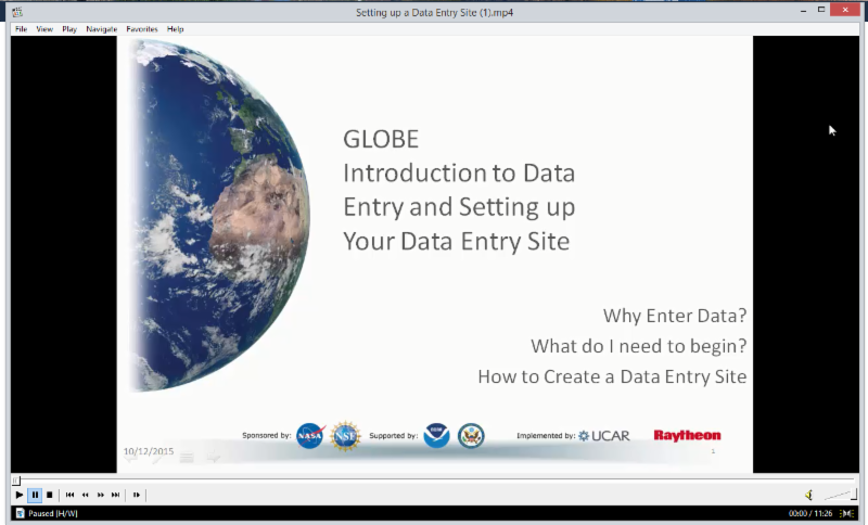 Globe Data site in browser