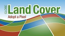 Land Cover logo which shows a horizon of colored squares.