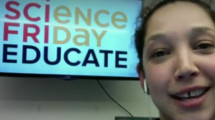 student interview on Science Friday