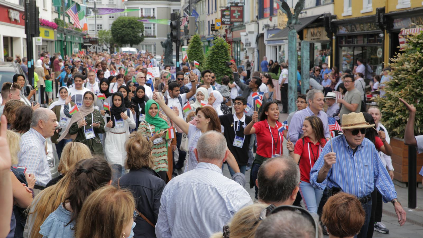 Photo of GLE parade through the town of Killarney, Ireland, on opening day.