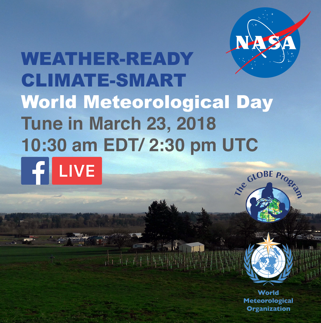 World Meteorological Day Facebook Live event shareable