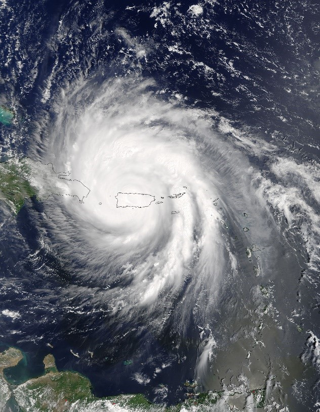Image of Hurricane Maria over Puerto Rico