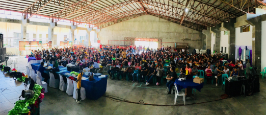 Participants in teacer training event in Bicol Region, Philippines, October 2018.
