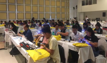 Participants at 2018 Zika Education and Prevention Project and Community Science Fair training in Palawan, Philippines.