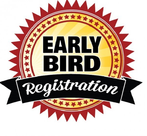"Graphic that reads, ""Early Bird Registration"""