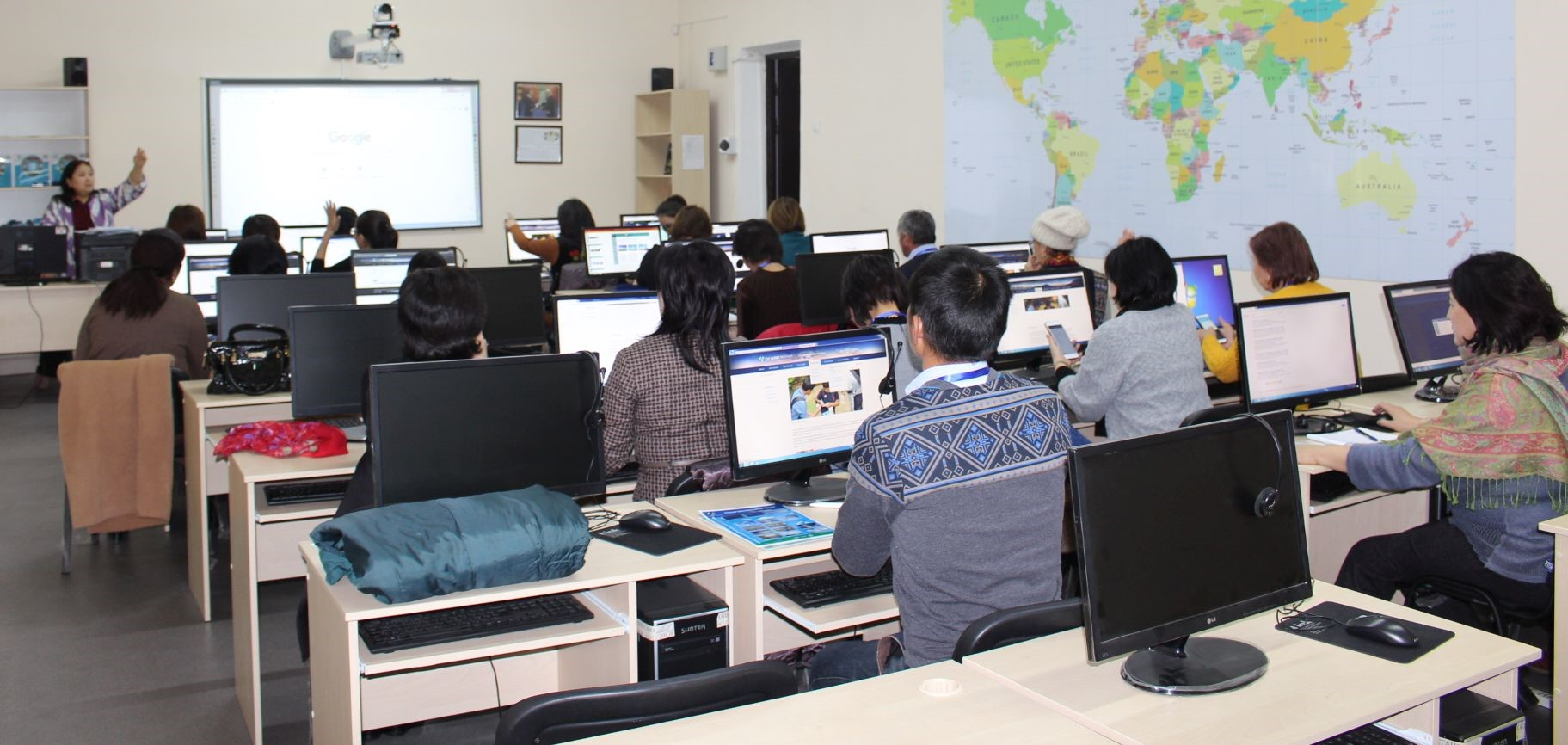 Participants in teacer training event in Kyrgyz Republic, February 2019.