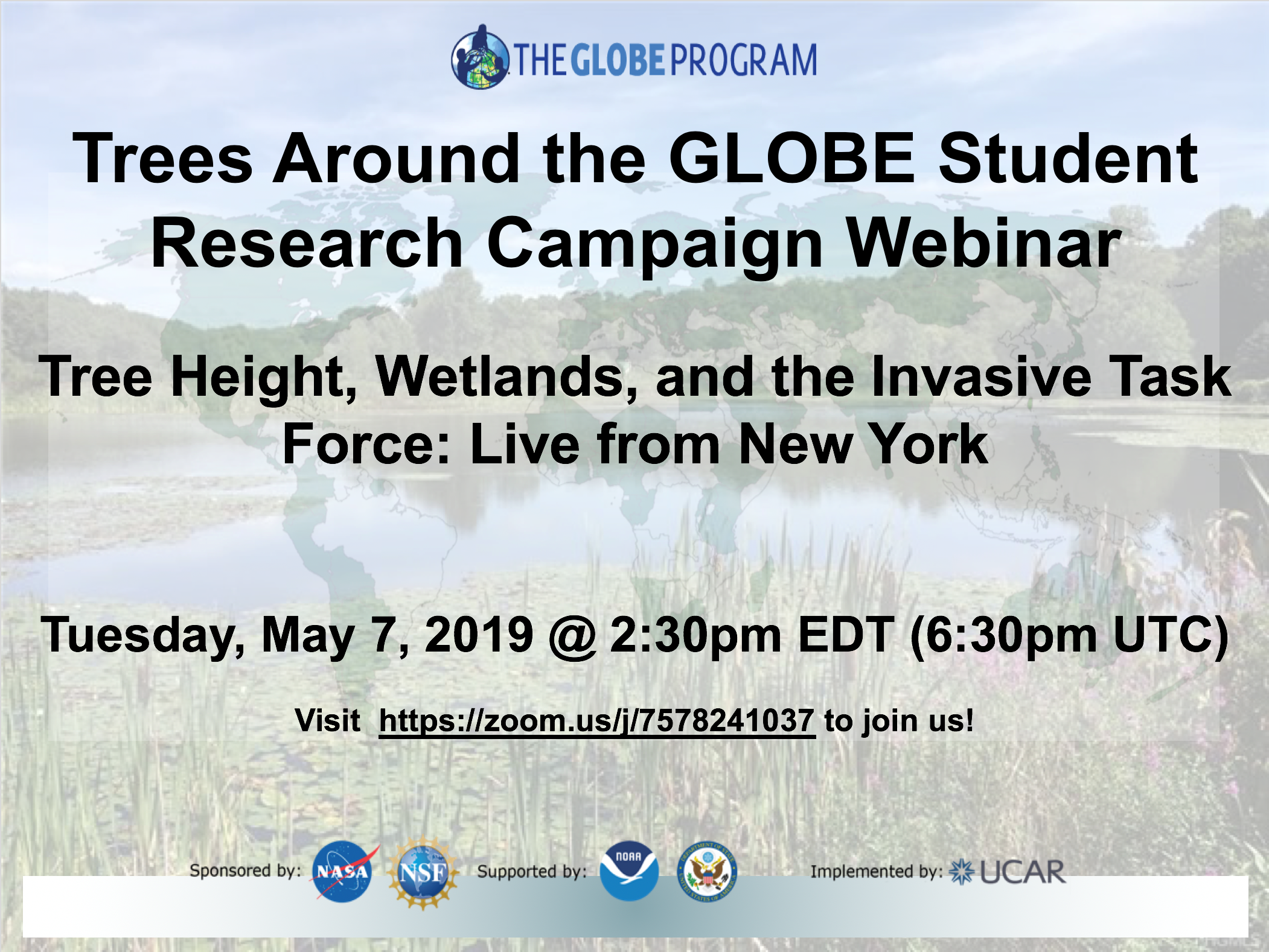 Trees Around the GLOBE shareable for 07 May webinar