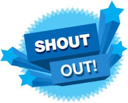 "Graphic that reads, ""Shout Out!"""