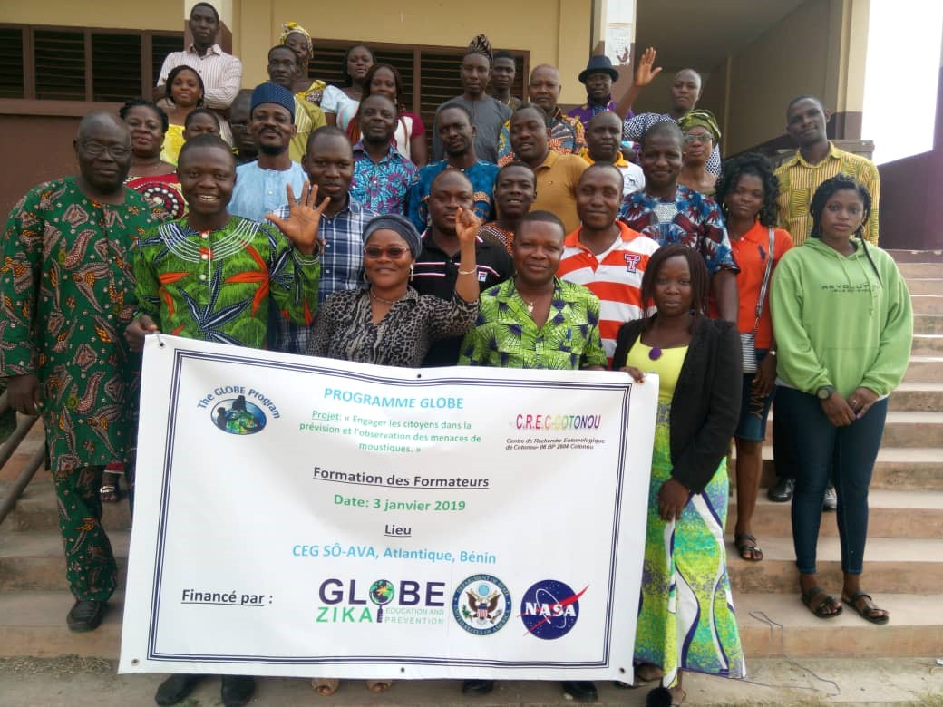 GLOBE Zika Education and Prevention Project participants in Benin.