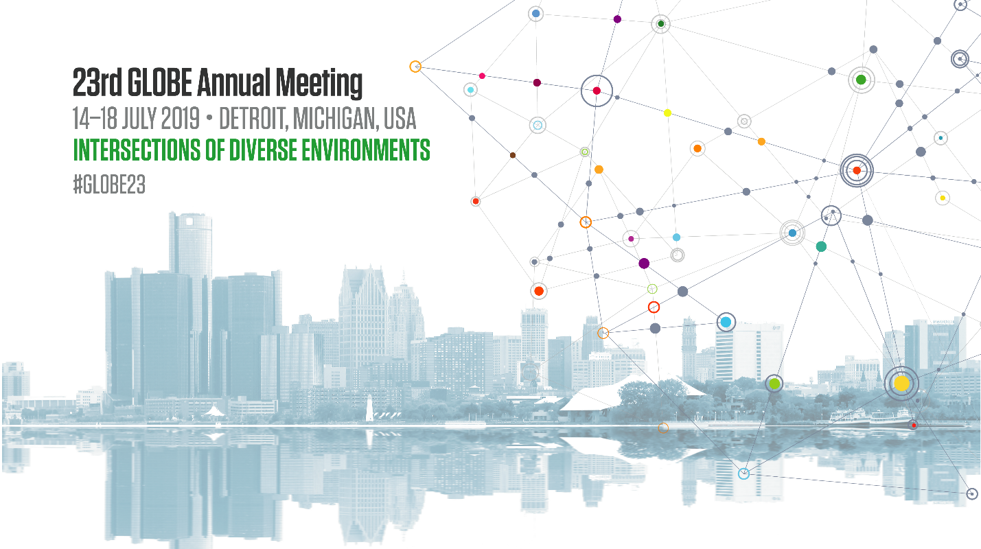 Banner for 2019 GLOBE Annual Meeting in Detroit, Michigan, USA