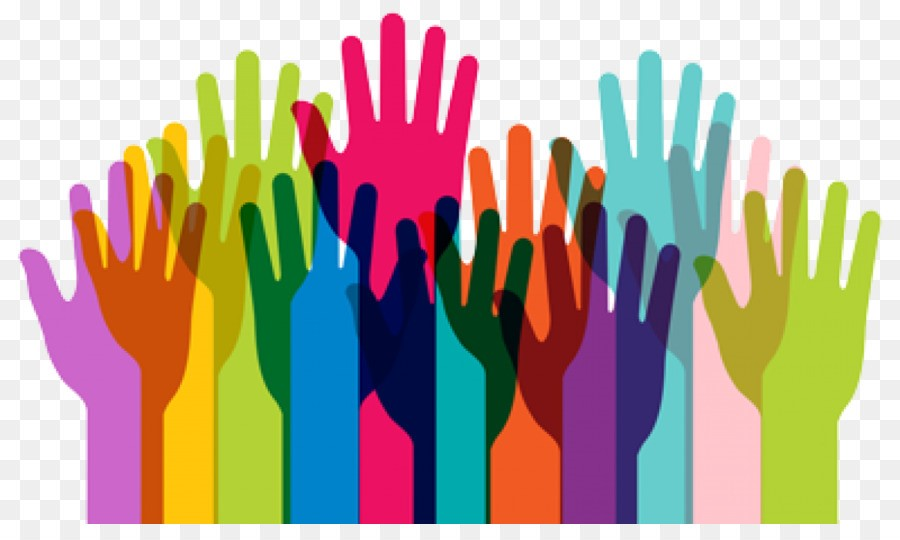 Graphic of a wide variety of hands, all colors, shapes, sizes