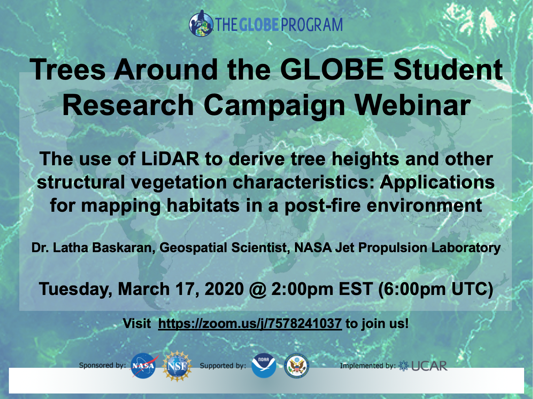 Trees Around the GLOBE 17 March webinar shareable