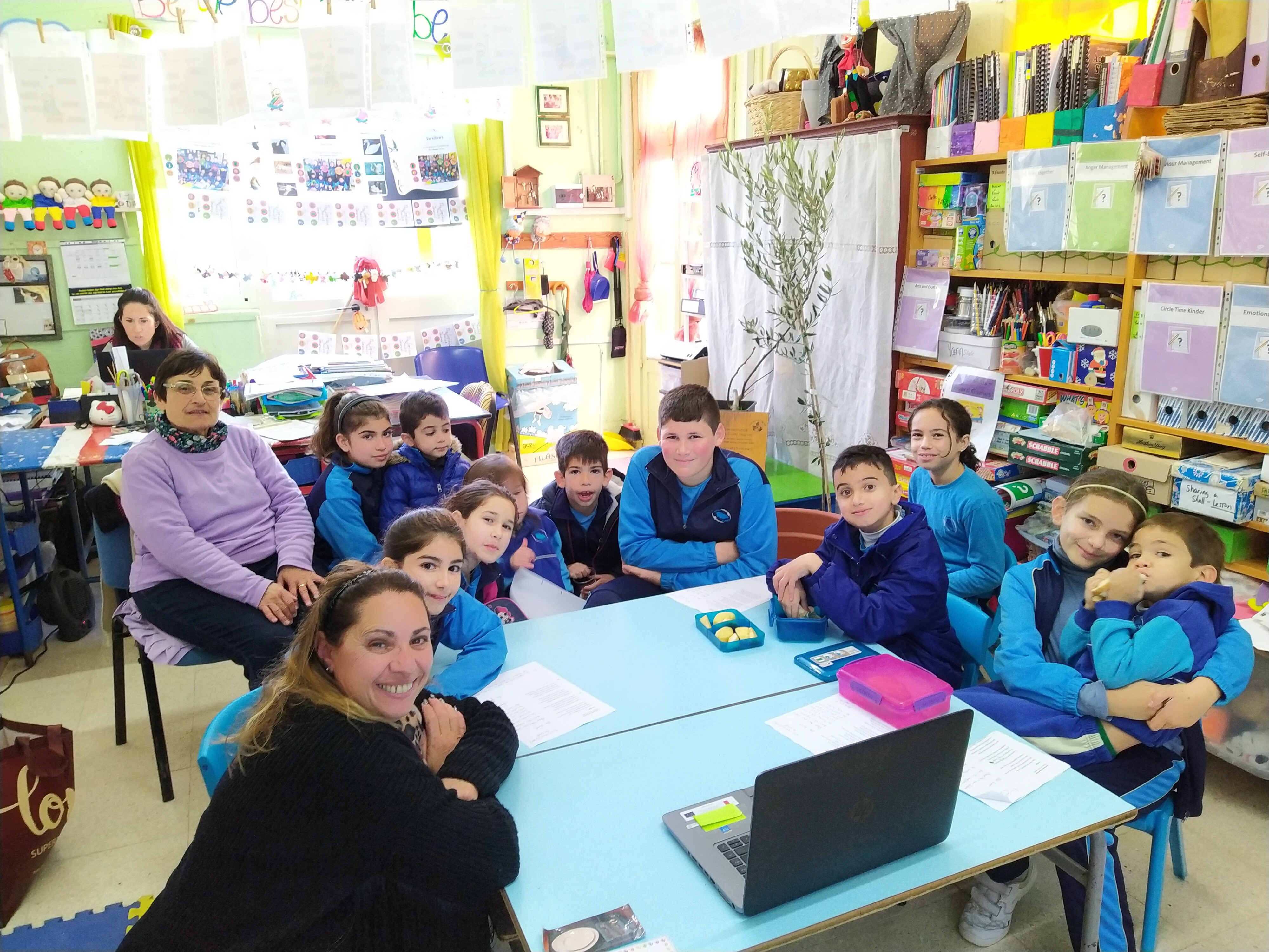 GLOBE students at Gozo College Rabat Primary School (Victoria, Gozo, Malta)