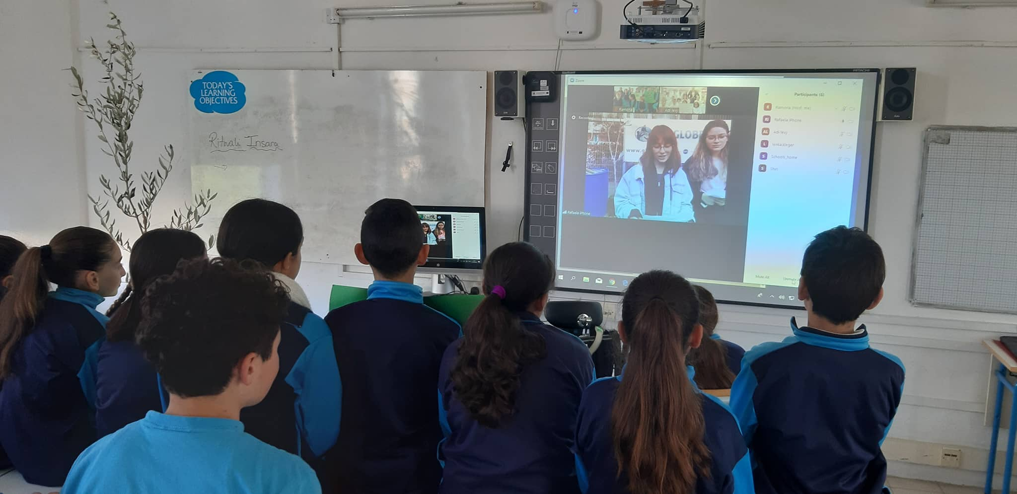 "GLOBE students engage in a ""first-of-its-kind"" video conference to help celebrate GLOBE's 25th Anniversary."
