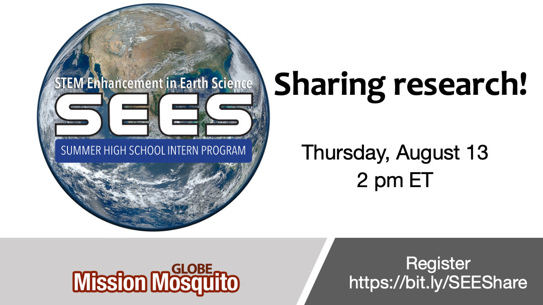 GLOBE Mission Mosquito 13 August webinar shareable