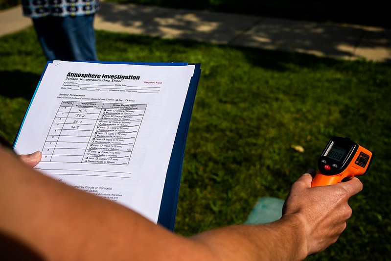 Photo of GLOBE member participating in GLOBE Weather course