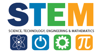 "Graphic that reads, ""STEM"""