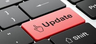 "Graphic of a computer that reads, ""Update"""