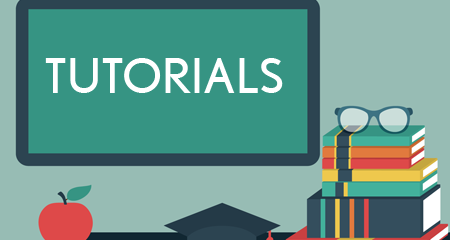 "Graphic that reads, ""Tutorials"""