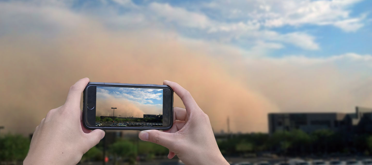 Photo of a dust storm