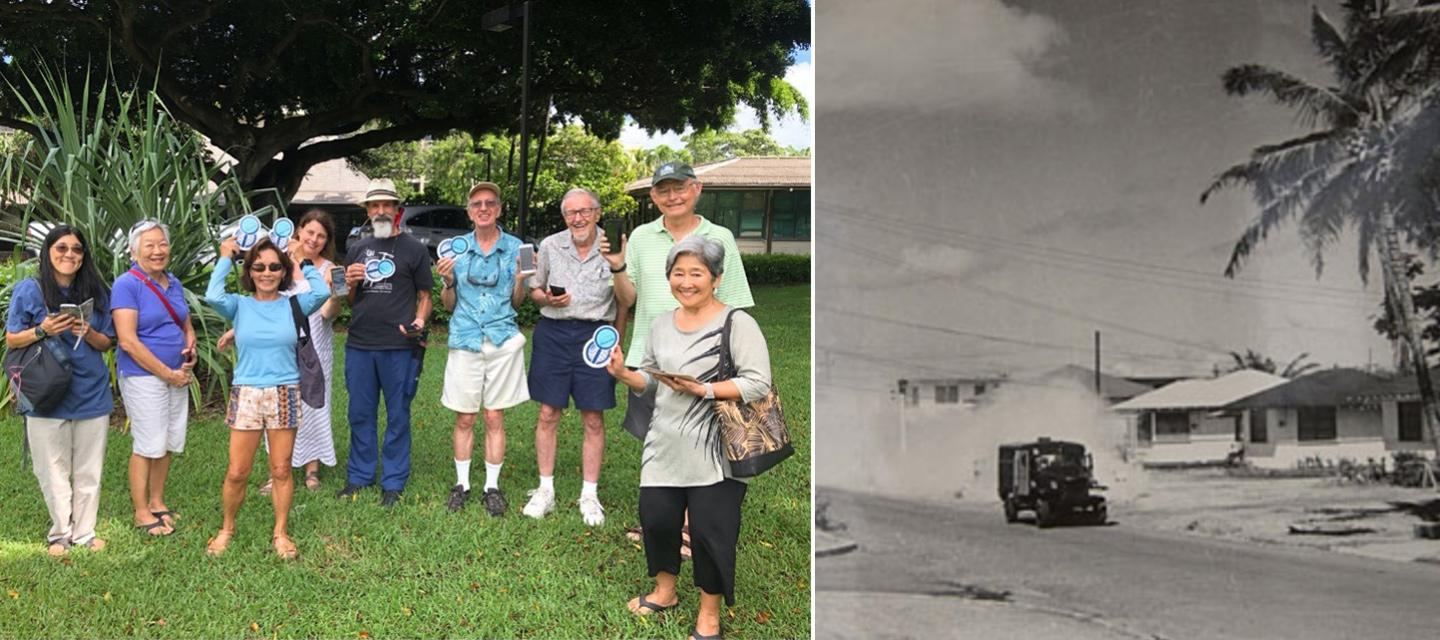 Images of mosquito control in Hawaii over the years