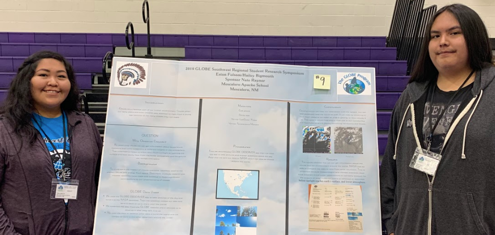 Mescalero students present at the 2019 SRS