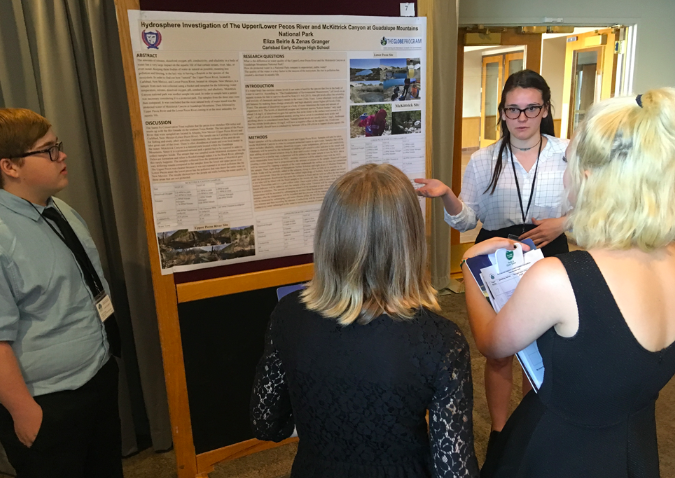 MULTI STEM Research Assistant and Pre-service Teacher Cassie Hayter served as a reviewer at the 2018 SW Region SRS in Boulder, Colorado.