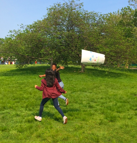 Flying Kites at the Northeast SRS
