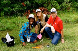 Amarachi (GLOBE Student from Nigeria), Maria, and Dr. Jim Washburne during the 17th Annual GLOBE Partner Meeting