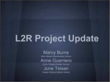 Screencapture from Marcy, Anne and June's presentation