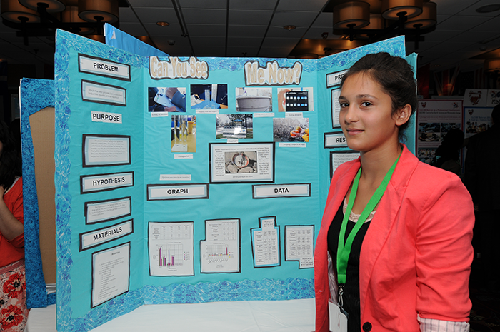 Students present their research at the 1st Student Science Symposium