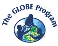 GLOBE arc logo with curved text