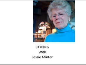 Screencapture from Career Speaker Jessie Minter