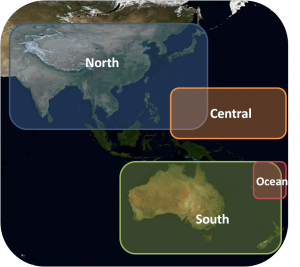 Image of the GLOBE Asia-Pacific region