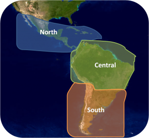Sectors used in climate analysis for Latin America - Caribbean Region