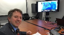 Dr. Tony Murphy preparing for Google+ Hangout
