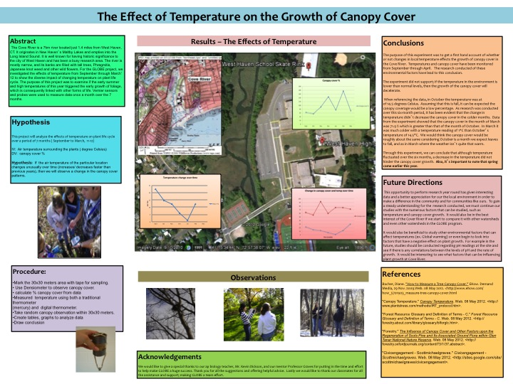 poster - effect of temp on canopy