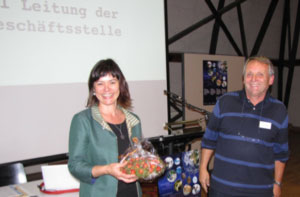 Country Coordinator of GLOBE Switzerland Juliette Vogel with Co-Coordinator Francois Gingins