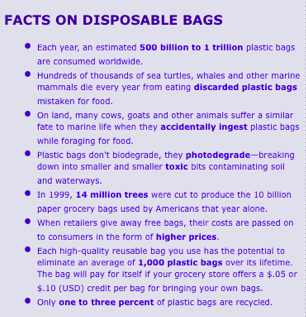 facts on disposable bags