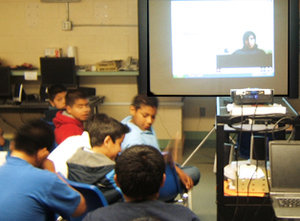 Students in New Mexico, USA participate in videoconference